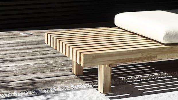 Laveri Woodnotes: panca da esterni in legno