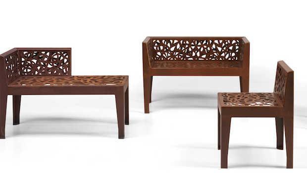 Sedute da esterni Color Corten Style - Design e foto by Metalco