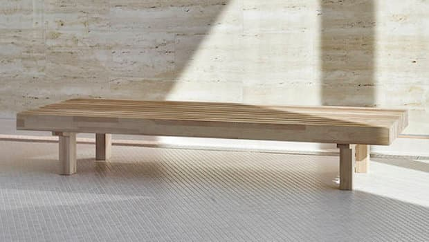Panca da esterni Laveri - Design Ulla Koskinen per Woodnotes