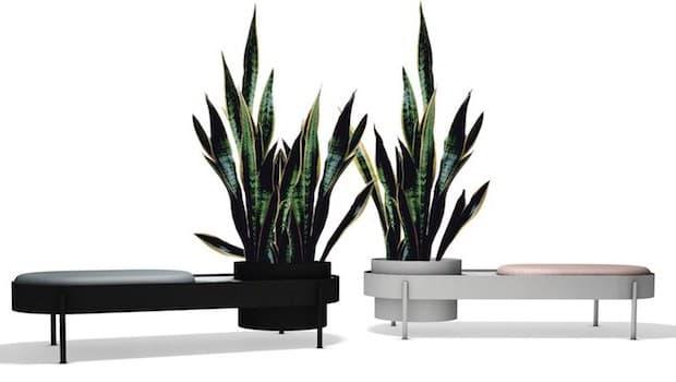 Panche da outdoor Albisola bianca e nera - Design e foto by Büro Ramos e Paola Zani