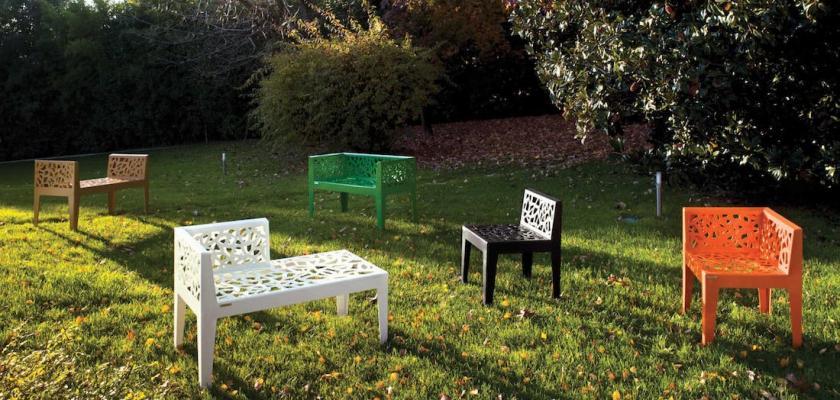 Panchina e sedute per esterni Color Corten Style - Foto by Metálico