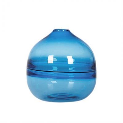 Vaso in vetro soffiato azzurro, stile Coastal - Foto by Casamata