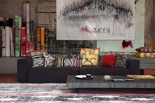 Missoni Home, Modern Iconic: sedute e tappeto - Foto by Missoni