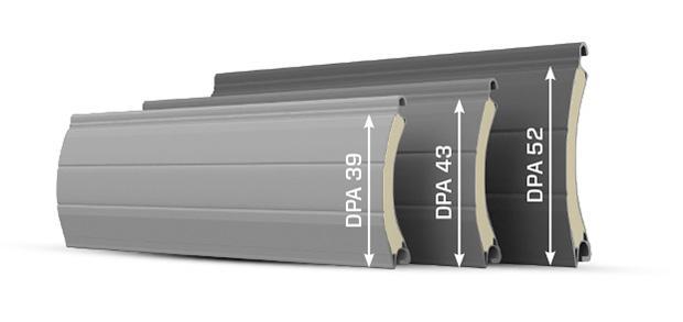 Lamelle per tapparelle del sistema di avvolgibile DK-RSP monoblocco by DAKO