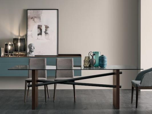 Tavolo da pranzo in vetro, da Gruppo Tomasella