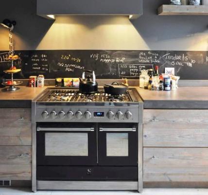 Cucina da appoggio Genesi antarcite 100 cm - Steel