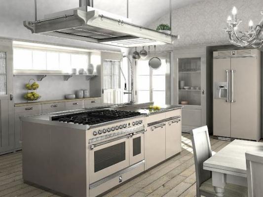 Isola cucina - moduli freestanding Ascot Steel