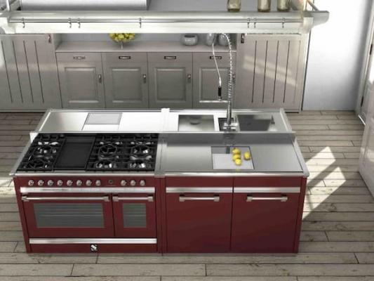 Moduli cucina freestanding Ascot Steel