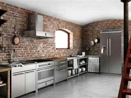 Cucina freestanding Sintesi by Steel