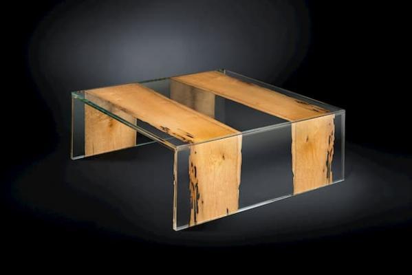 Tavolino in plexiglass e legno VGnewtrend