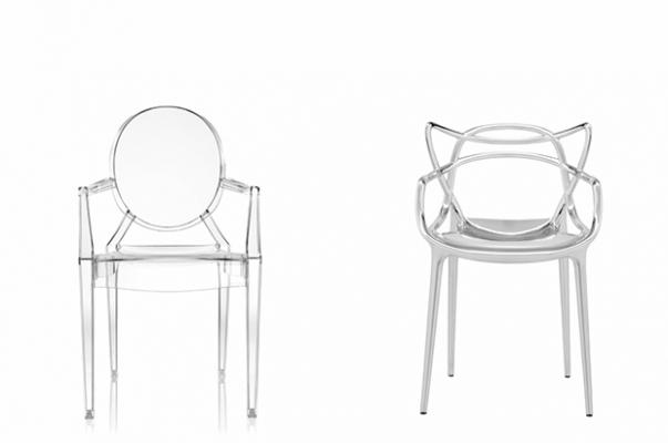 Design trasparente Luis ghost e Masters Kartell