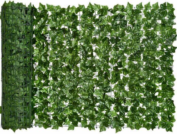 Siepe artificiale per camuffare bidoni su Amazon