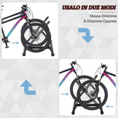 Rastrelliera da due bici Amazon