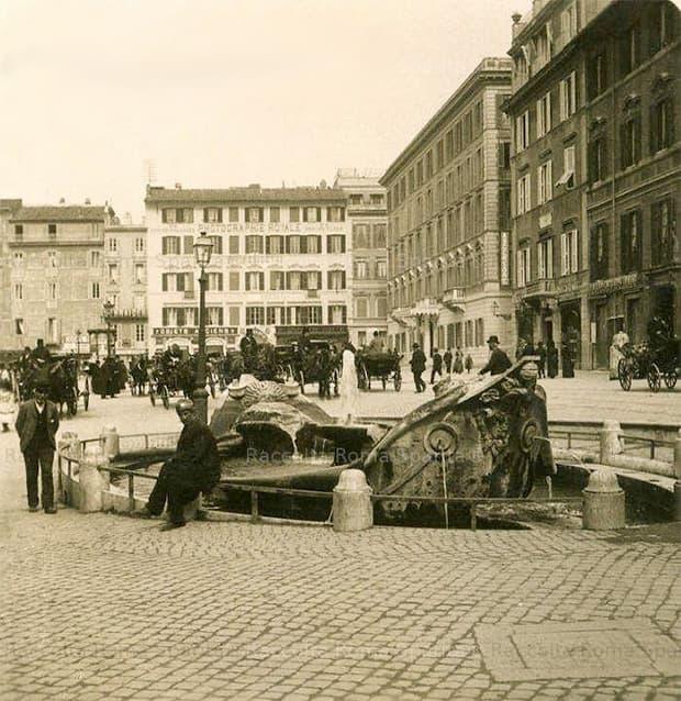 Foto storica, Roma sparita, Piazza di Spagna