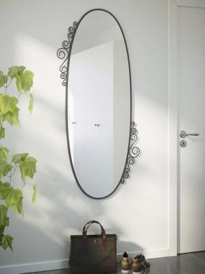 Specchio ovale, IKEA, Ekne