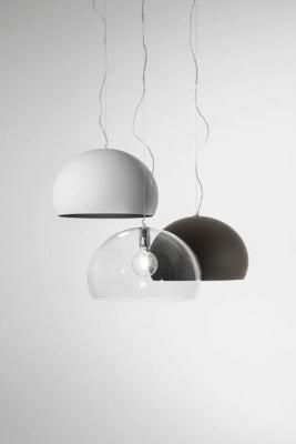 Lampade a sospensione nero bianco trasparente Fly di Kartell