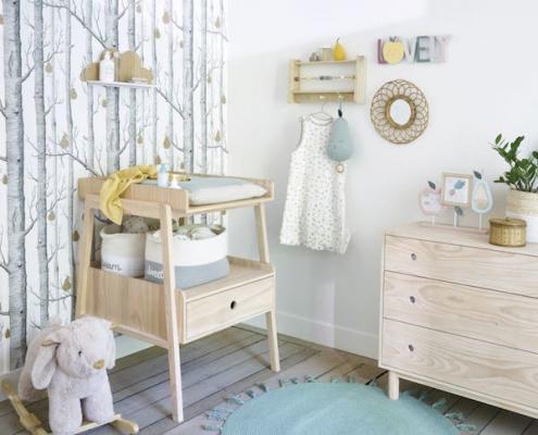 Camerette per neonati: fasciatoio in pino, da Maisons du Monde