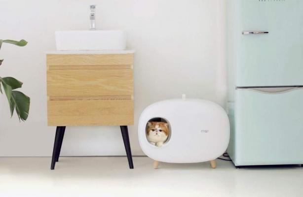Toilette di design per gatto stile retrò su Petloverscompany.com