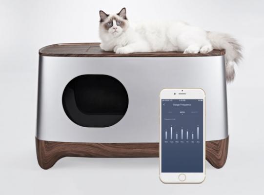 Toilette per gatti pulizia automatica e gestione tramite app iKuddle