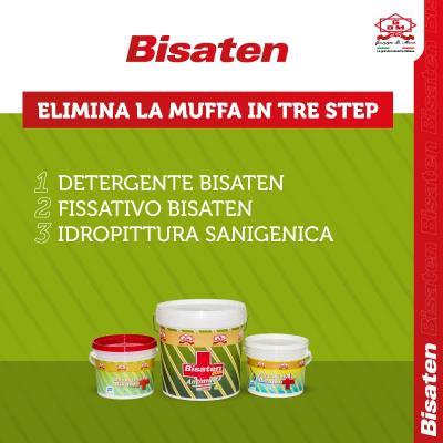 Fasi di sanificazione delle pareti con i prodotti Bisaten