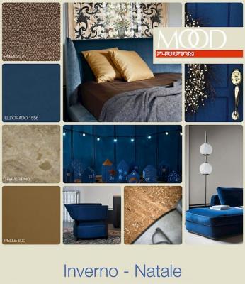 Moodboard blu e beige by Flexform
