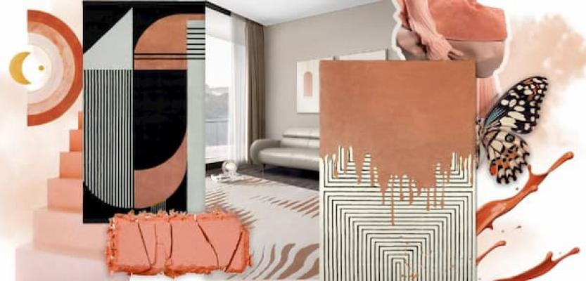 Moodboard color cantaloupe by Rug'Society