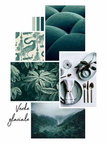 Moodboard con scelta di colori - Credits Pinterest