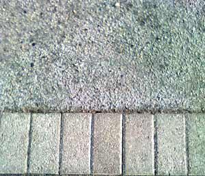 Le giunzioni tra materiali diversi: una pavimentazione in cemento