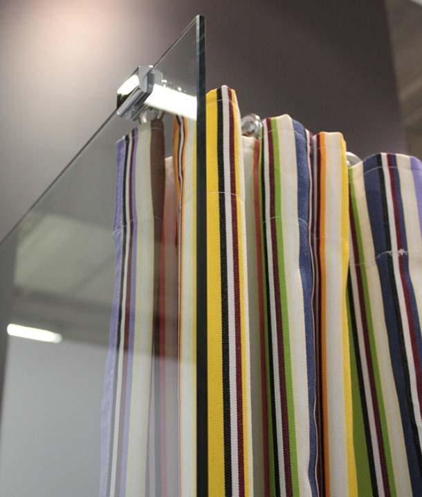 tenda doccia di G.A.L., collezione Missoni