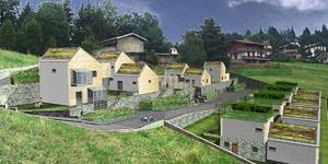 Render_villaggio ecocompatibile_Selvino