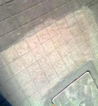 Il recupero di una vecchia pavimentazione esterna: una campionatura del nuovo intervento