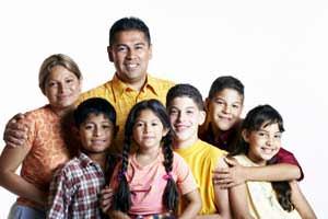 Famiglia numerosa di immigrati