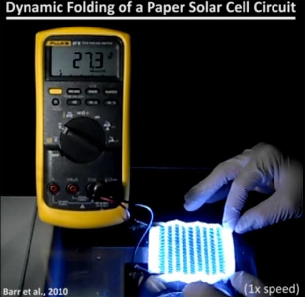 Dimostrazione del fotovoltaico di carta