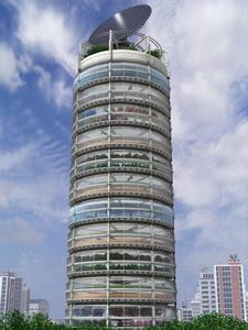 Il grattacielo - fattoria a pianta circolare di Chris Jacobs