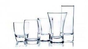Servizio di bicchieri in vetro