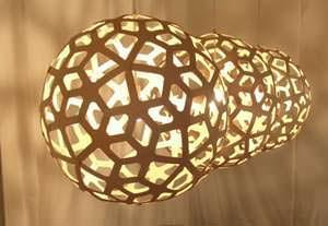 Coral lamp by David Trubridge