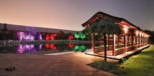 L'illuminazione di un giardino ottenuta con il sistema 4seasons
