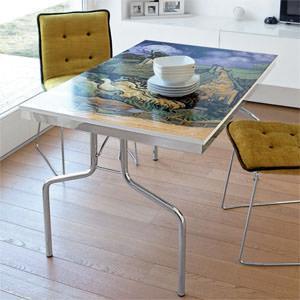 Quadri che diventano tavoli - Tavolino che diventa tavolo da pranzo ...