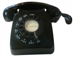 Il telefono a disco di Henry Dreyfuss in una versione degli anni '50