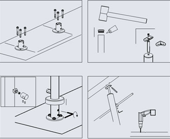 La manutenzione delle scale: schemi di montaggio