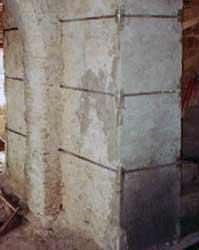 La cucitura delle murature: il consolidamento di un setto murario in tufo
