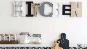 Arredare casa con lettere decorative