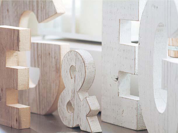 Lettere Di Legno Da Appendere : Lettere per arredare casa