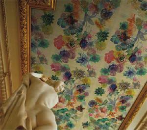 Rivestimento in seta a soffitto di Jannelli & Volpi