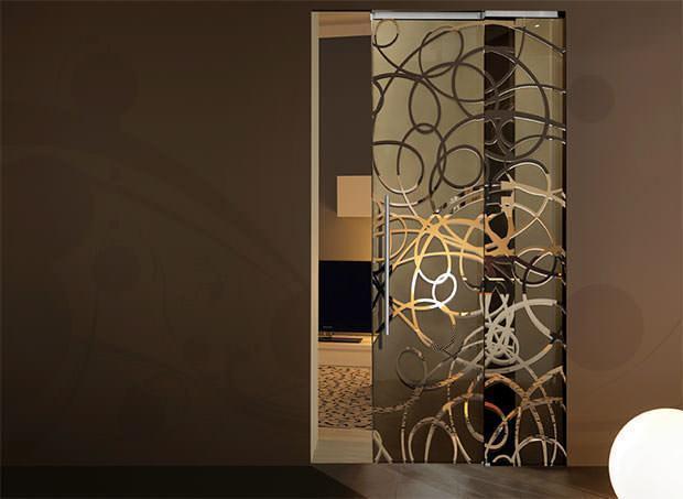 Porte in vetro - Vetri decorati per porte scorrevoli ...