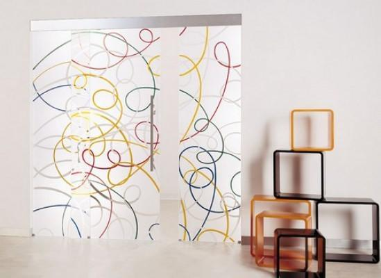 Casali_ Aura dipinta, scorrevole esterno parete.