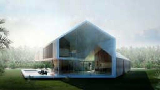 Casa con patio triangolare for Casa unifamiliare tradizionale