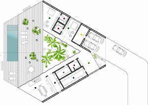 Casa con patio triangolare for Piani casa del sud del cottage