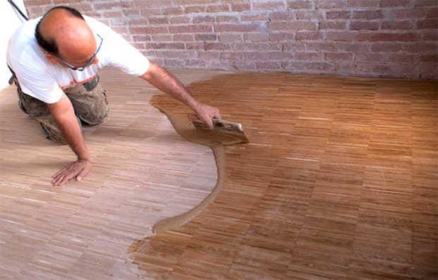 Verniciatura dello Stepping floor, by Parquet Serra Barcelona