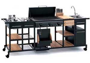 Una cucina all'aperto : un sistema componibile della BST